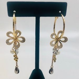 Hoop Earring W/ Dangling Charms,NWT